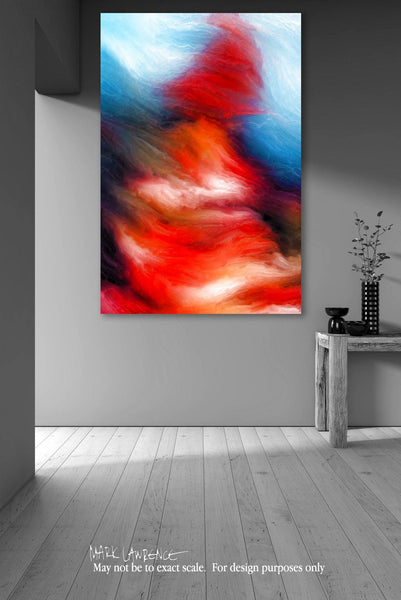Room Inspiration | I Will Walk Through The Valley If You Want Me To. Psalms 23:4 | Limited Edition Modern Abstract Art