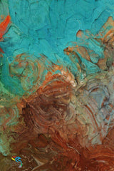 Romans 12:2. Renew Your Thoughts, Transform Your Life.  Limited Edition Christian Modern Art. Ultra-hand embellished and textured with rich brush strokes by the artist. Signed and numbered brightly colored Christian abstract art. Find Art That Speaks To You! Don't copy the behavior and customs of this world, but let God transform you into a new person by changing the way you think. Then you will learn to know God's will for you, which is good and pleasing and perfect. Romans 12:2 (NLT)