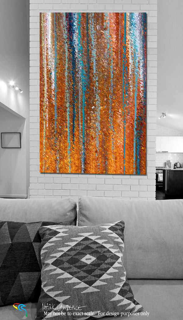 Interior Design Inspiration. Romans 15:13. Abound In Hope. Limited Edition Christian Modern Art. Ultra-hand embellished and textured with rich brush strokes by the artist. Signed and numbered brightly colored Christian abstract art. Find Art That Speaks To You! Now may the God of hope fill you with all joy and peace in believing, that you may abound in hope by the power of the Holy Spirit. Romans 15:13