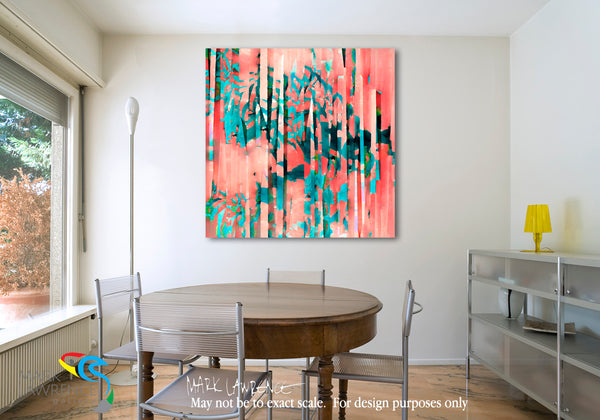 Interior Design Inspiration. Romans 5:8. He Loved Us First. Limited Edition Christian Modern Art. Ultra-hand embellished and textured with rich brush strokes by the artist. Signed & numbered brightly colored Christian abstract art. Find Art That Speaks To You! But God shows his love for us in that while we were still sinners, Christ died for us. Romans 5:8