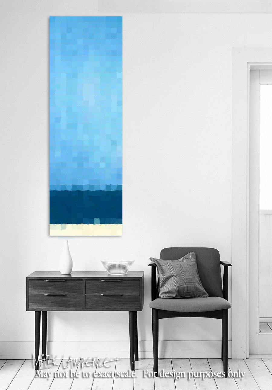 Interior Design Focal Point Art Inspiration- Summer Beach Blue. Copyright 2014. All Rights Reserved.