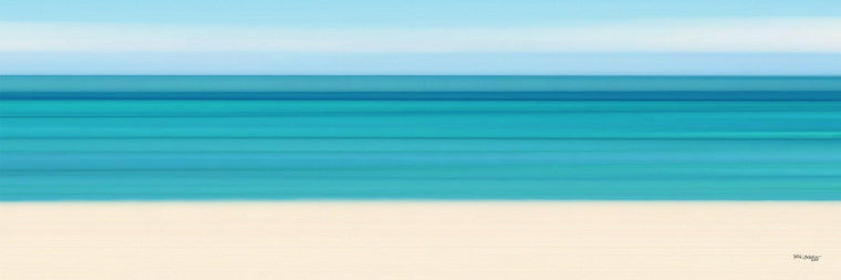 Contemporary Art | Summer On The Beach Panoramic | Beach Art Limited Edition