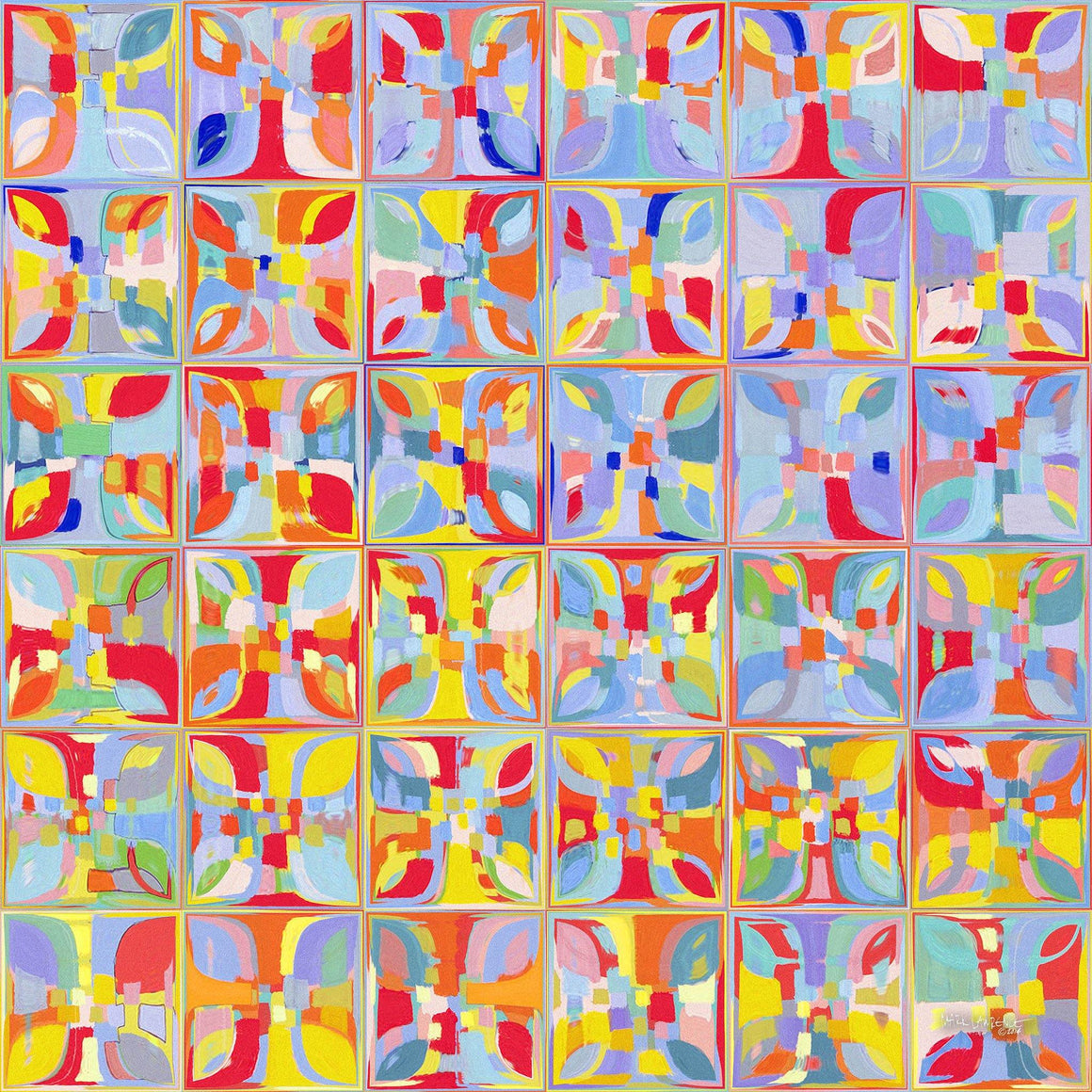 Summer Pastel Tiles. Copyright 2014 by Mark Lawrence. All Rights Reserved.