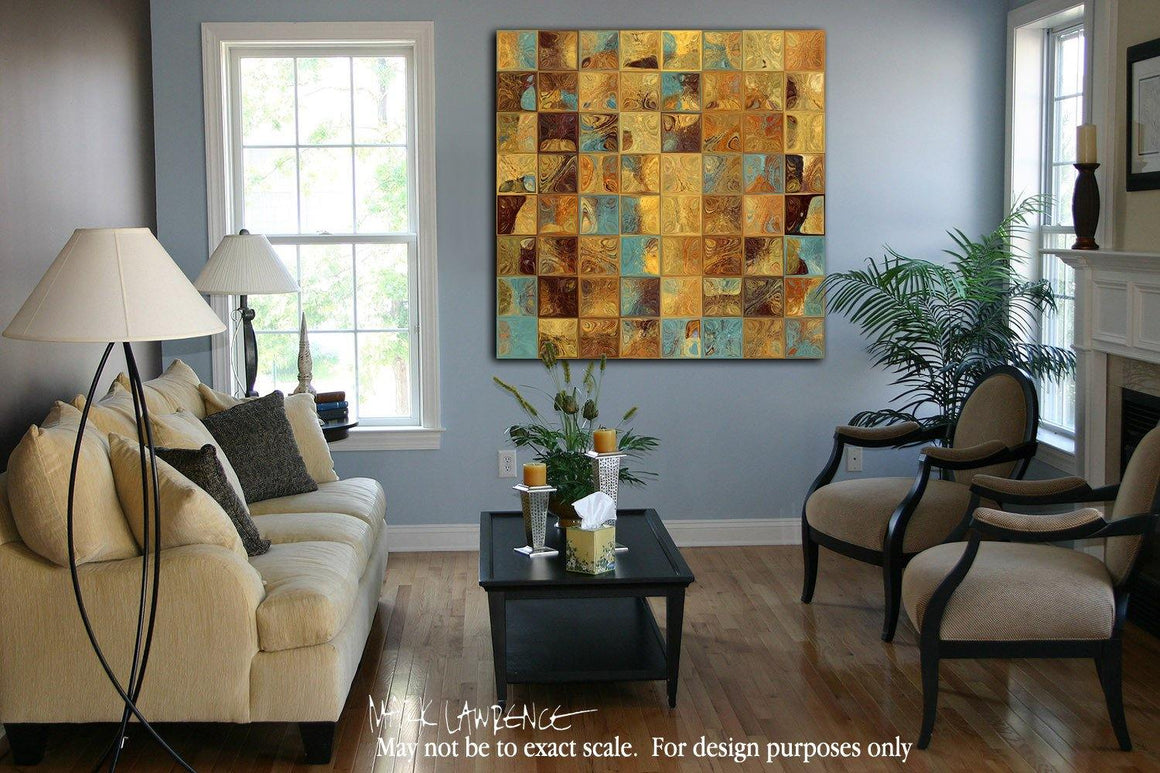 Interior Design Focal Point Art Inspiration-  Tile Art 16, 2013. Modern Mosaic Tile Art. Copyright 2013 by Mark Lawrence. All Rights Reserved.