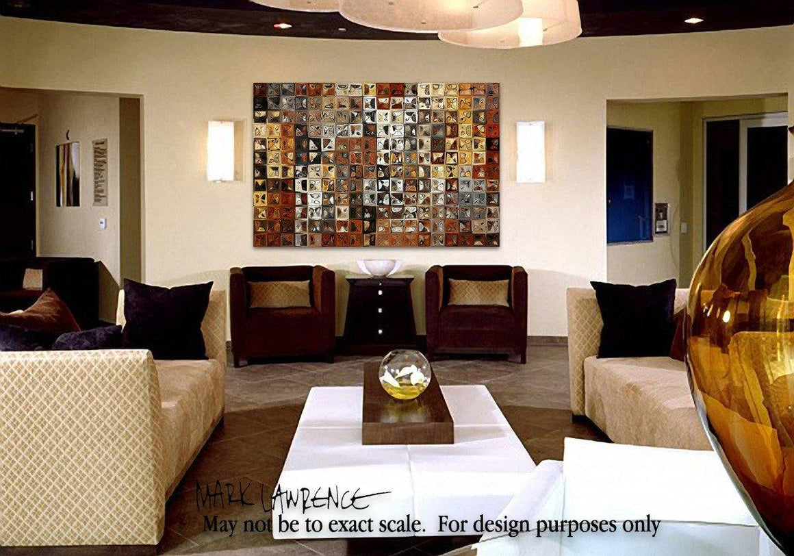 Interior Design Focal Point Art Inspiration- Tile Art #1, 2013. Copyright 2013 by Mark Lawrence. All Rights Reserved.