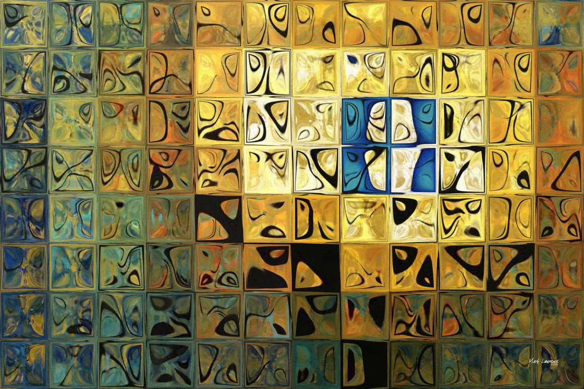 Tile Art #24, 2008.Traditional Fine Art. Original limited edition signed canvas & paper giclees by internationally collected artist Mark Lawrence