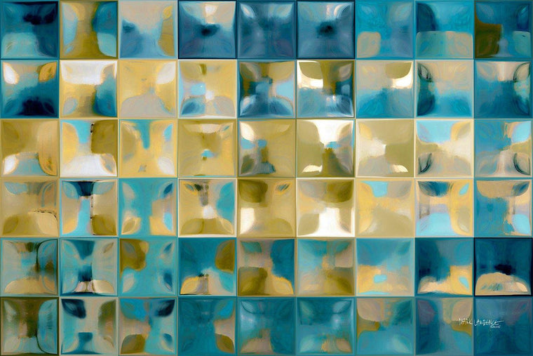 Tile Art 5 2015. The Modern Tile Art technique is similar to the grid technique pioneered by modern artist Chuck Close. Each of the tiles in this work have been meticulously hand colored in a distinctive method created by the artist. Copyright ??2015. All Rights Reserved.