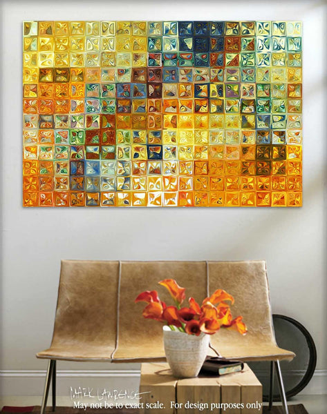Interior Design Focal Point Art Inspiration-  Tile Art #6, 2012. Copyright 2012 by Mark Lawrence. All Rights Reserved.
