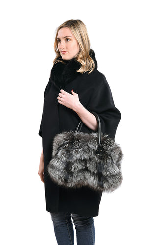 Fox fur handbag