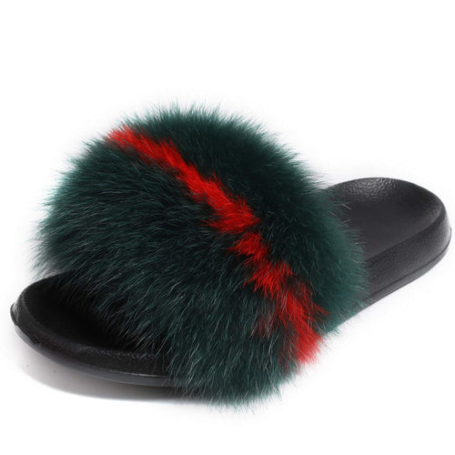Fox fur slides