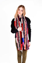 Load image into Gallery viewer, Knitted mink multi color scarf
