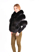 Load image into Gallery viewer, Fox fur cape with leather
