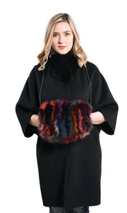 Fox fur bag hand muff