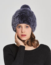 Rex rabbit beanie with pom pom