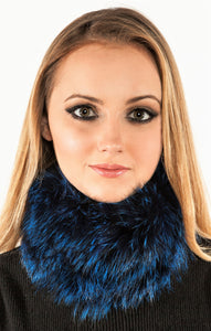 Knitted fox neck warmer & headband
