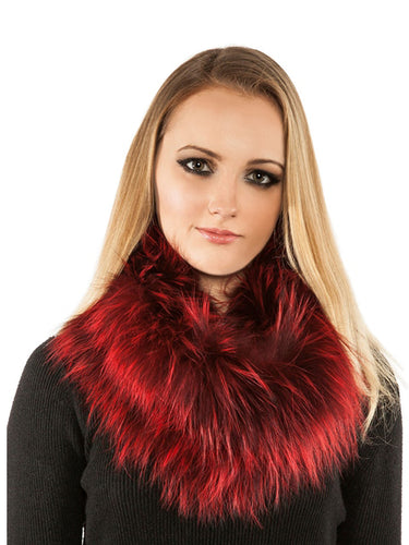 Knitted fox infinity scarf
