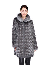 Load image into Gallery viewer, Silver fox reversible coat