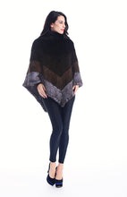 Load image into Gallery viewer, Knitted mink poncho