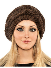 Load image into Gallery viewer, Knitted mink beret