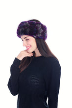 Load image into Gallery viewer, Knitted rex rabbit headband & neck warmer