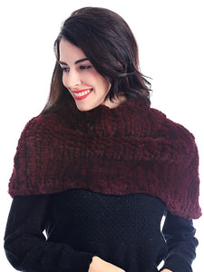 Knitted rex rabbit shrug