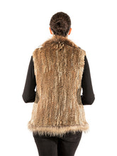 Load image into Gallery viewer, Rabbit vest with Finn raccoon trim
