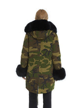 Load image into Gallery viewer, Camouflage fox parka with hood