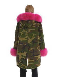 Fox parka with hood