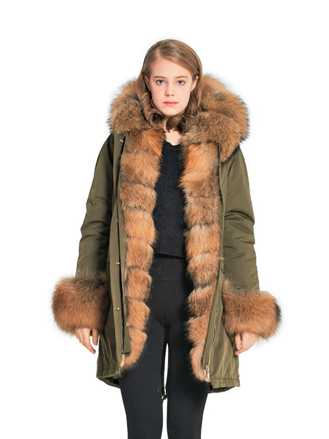 Finn raccoon parka with hood