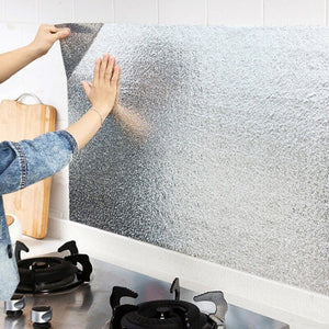 Aluminum Wallpaper Against Oil Splashes