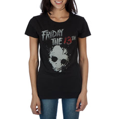 Friday The 13th Logo Women's Black T-Shirt