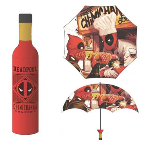 Marvel Deadpool Chimichanga Umbrella with Case