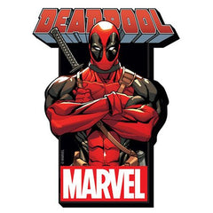 Aquarius Marvel Deadpool with Logo Funky Chunky Magnet