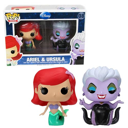 The Little Mermaid Ariel and Ursula Disney Pop! Vinyl Mini-Figure 2-Pack