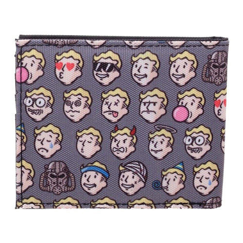 Fallout Vault Boy Emojis All Over Print Bi Fold Wallet Lic. Bethesda