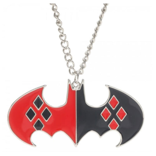 Animewild DC Comics Harley Quinn Bat Logo Cosplay Necklace - Bioworld