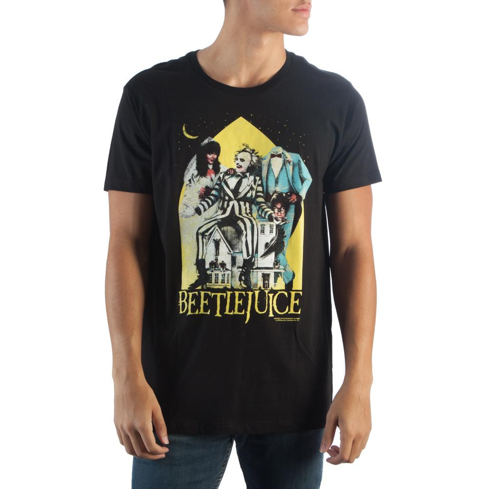 Beetlejuice Men's Black T-Shirt