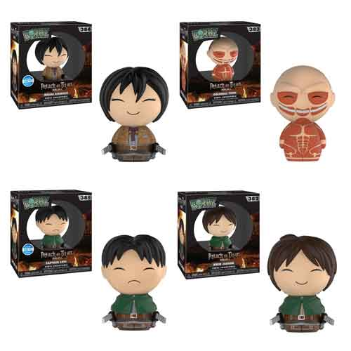 Attack on Titan Dorbz! Set of 4