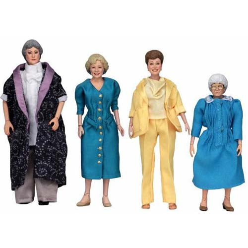 NECA Golden Girls Dorothy, Rose, Blanche & Sophia Set of 4 Clothed Action Figures