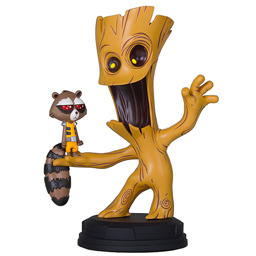 Groot and Rocket Animated Statue Gentle Giant