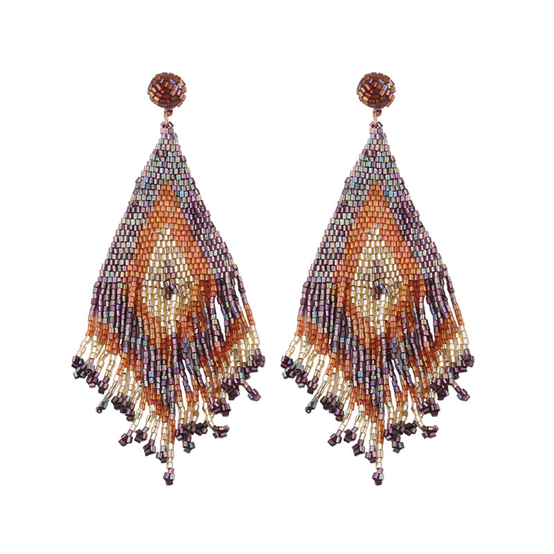 Handmade Bead Drop Earrings