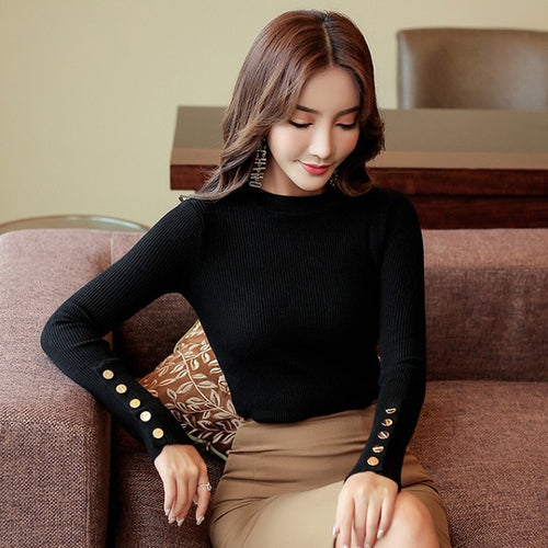 Sweater Knitted Long Sleeve