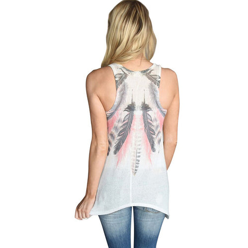Feather Tank Top