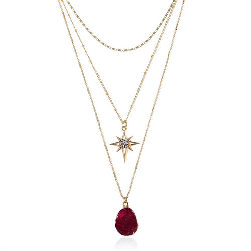 3 Layer Star Necklace
