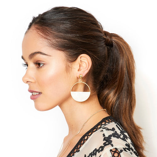 Half Circle Drop Earrings