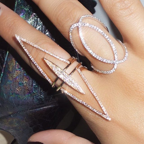 FULL finger 3 piece ring set fashion elegant jewelry