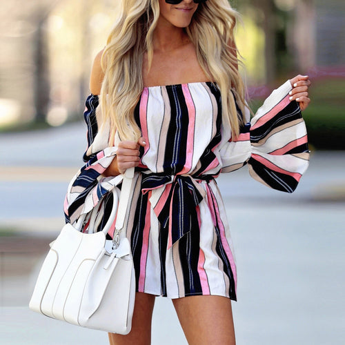 The Town Striped Jumpsuit
