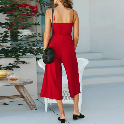 High Waisted Wide Leg Jumpsuit