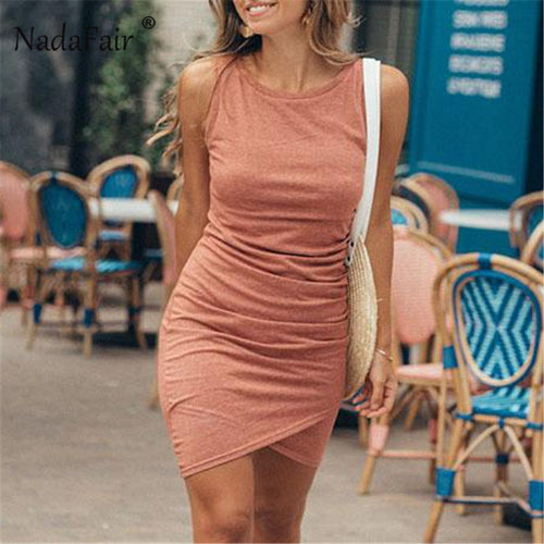 Summer Faux Wrap Dress