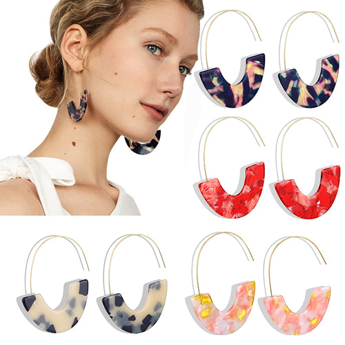 Bohemian Leopard Multicolor Hook Earrings